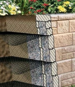 Geogrid retaining wall reinforcement AB Grid