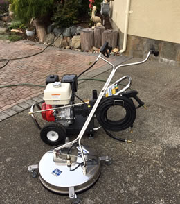 Power Washer and Surface Cleaner for Cleaning Driveways.