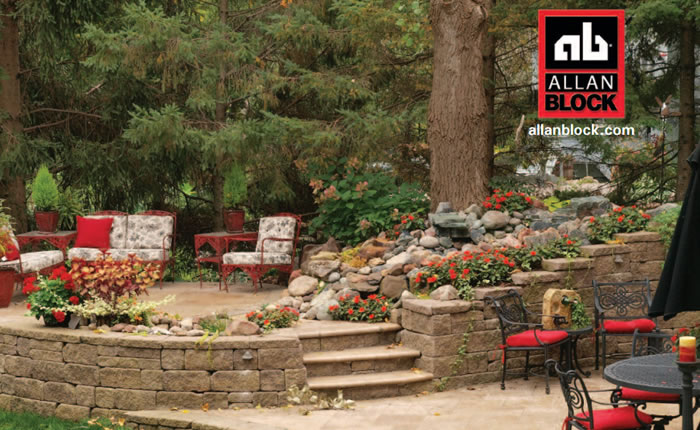 Allan Block Retaining Wall Builders in Victoria and Sidney BC.